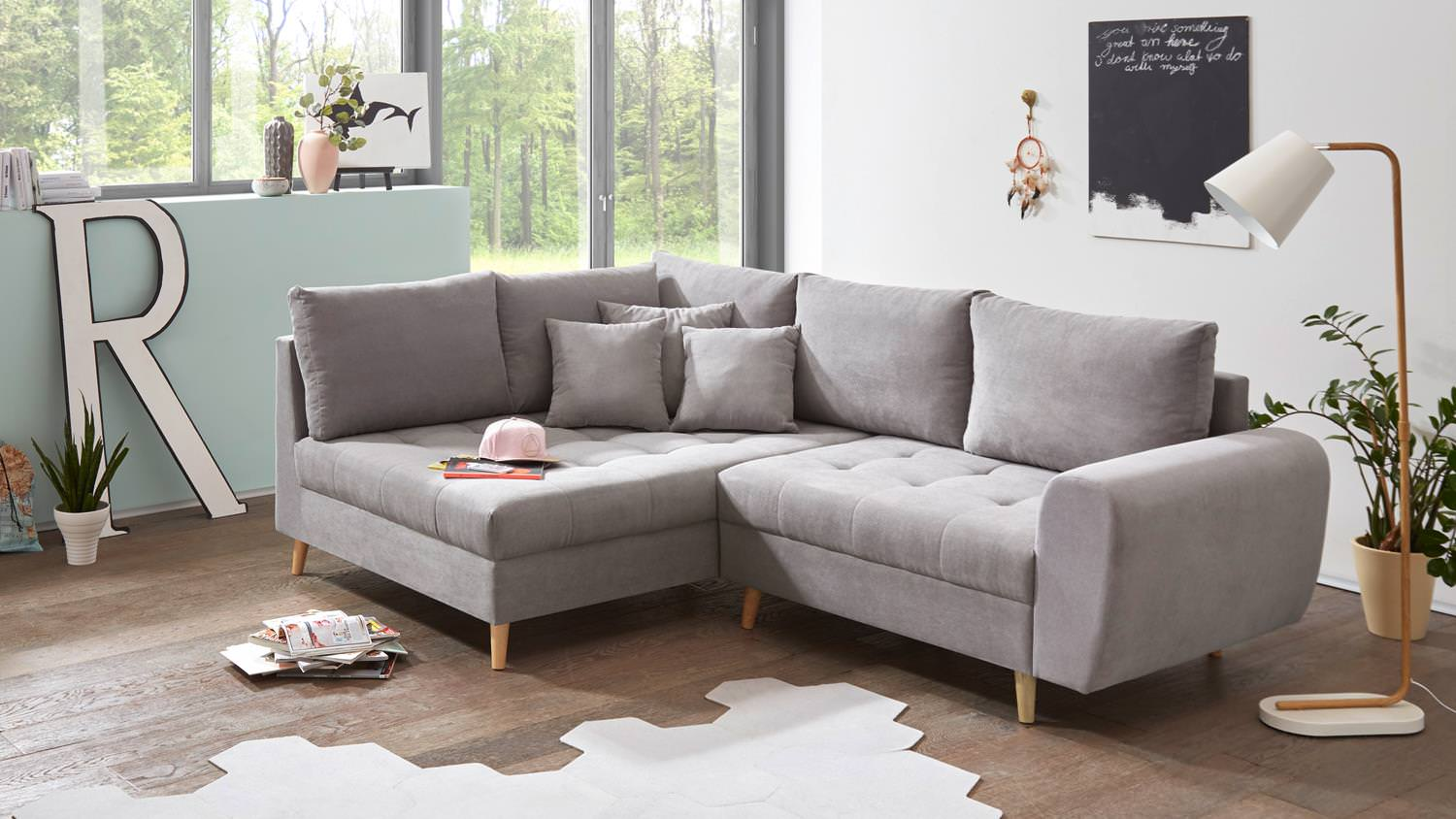 Ecksofa Links Black Red White Ecksofa Alice Links Grau