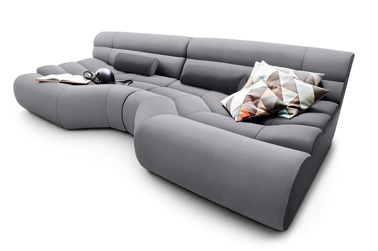 Big Sofa Mit Schlaffunktion New Look Bigsofa Elements Grau Furnster De