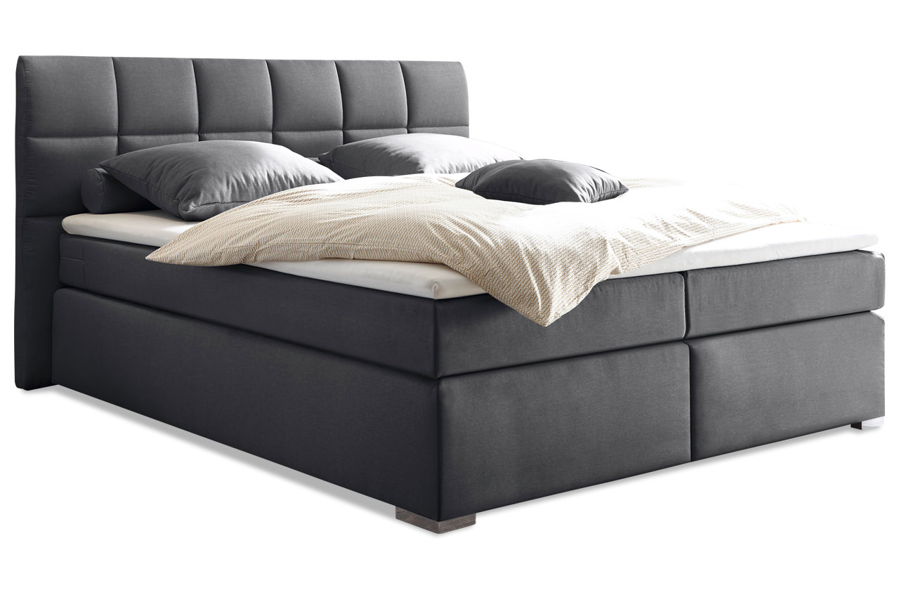Black Red White Boxspringbett Ravello 160x200 Mit