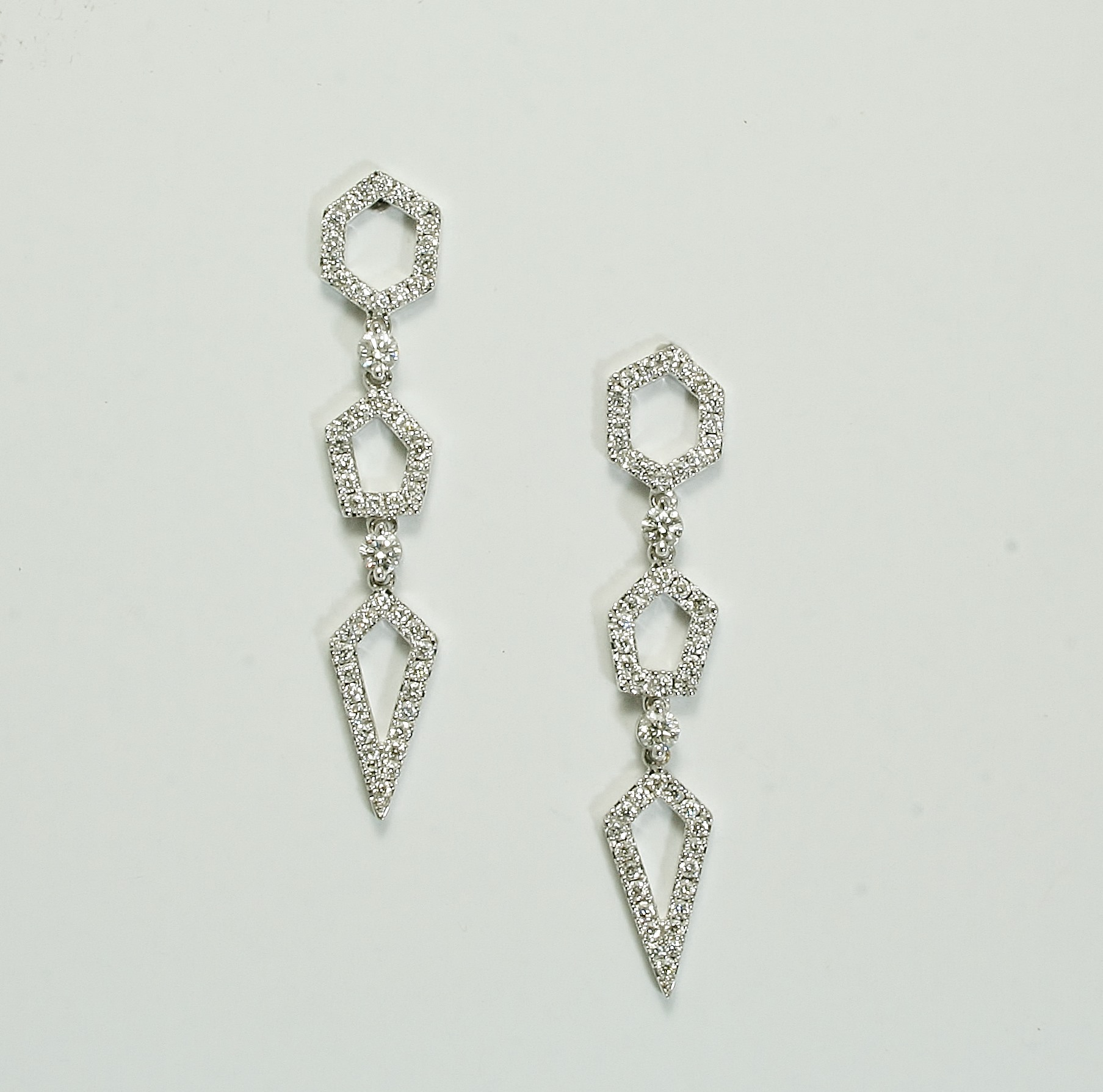 Art Deco Style Earrings Uk Art Deco Style Diamond Pendant Earrings Furr Co