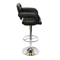 MSD51_019 Comfy Barstool Black - Furtado Furniture