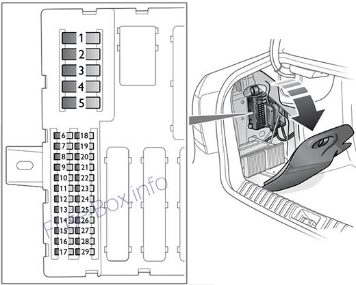 2004 saab 9 3 sedan fuse panel diagram