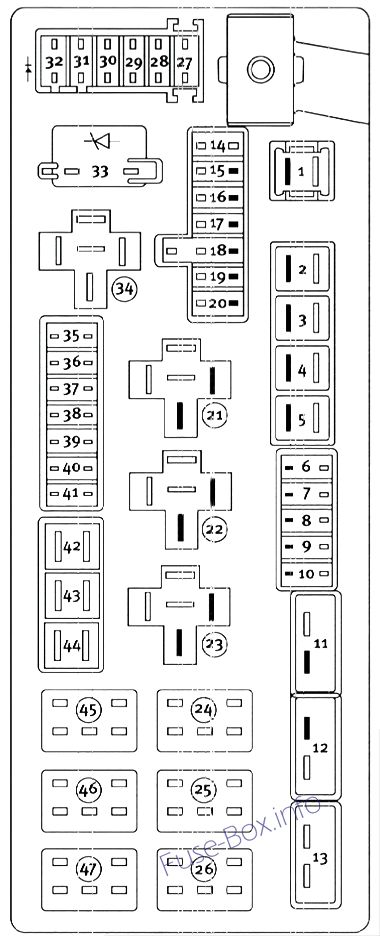 2009 dodge challenger fuse box diagram
