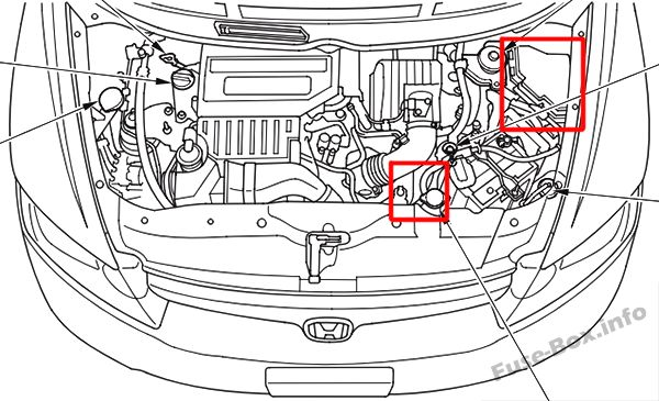 2010 honda civic fuse box location