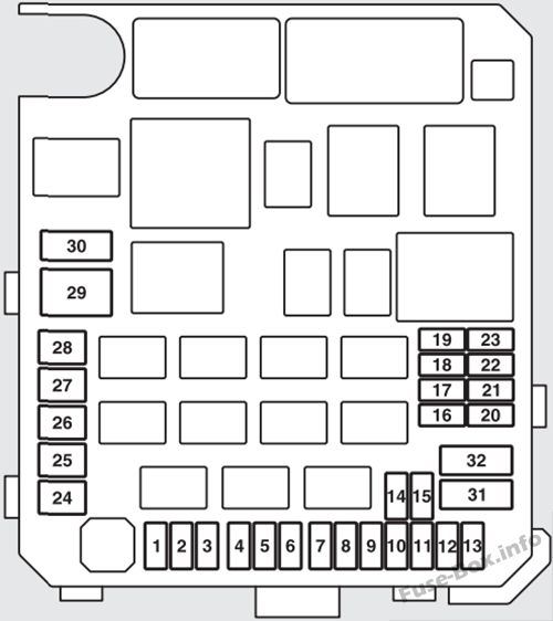 2007 mitsubishi outlander fuse box