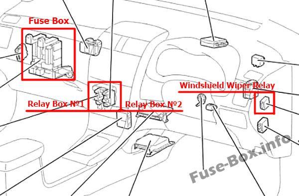 Toyota Corolla (E140/E150; 2007-2013) \u003c Fuse Box diagram