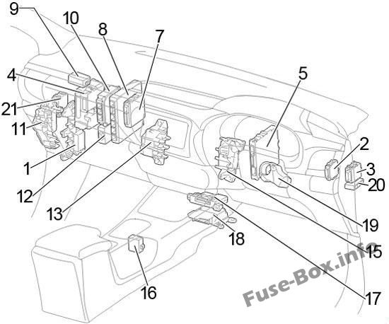 Toyota Hilux (AN120/AN130; 2015-2019-) \u003c Fuse Box diagram