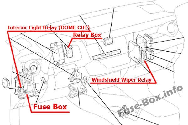 Toyota RAV4 (XA40; 2013-2018) \u003c Fuse Box diagram