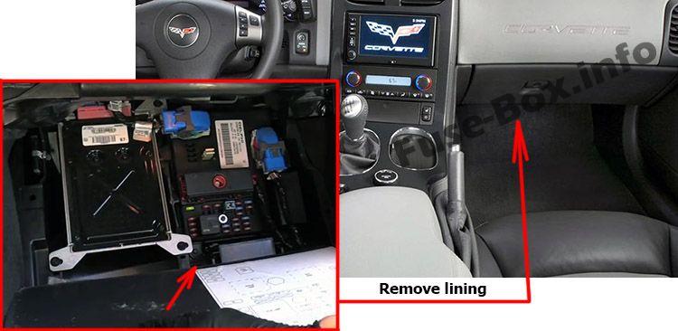Chevrolet Corvette (C6; 2005-2013) \u003c Fuse Box diagram