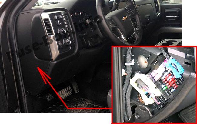 Chevrolet Silverado (mk3; 2014-2018) \u003c Fuse Box diagram