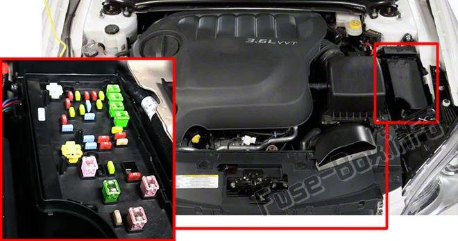 Chrysler 200 (Mk1; 2011-2014) \u003c Fuse Box diagram