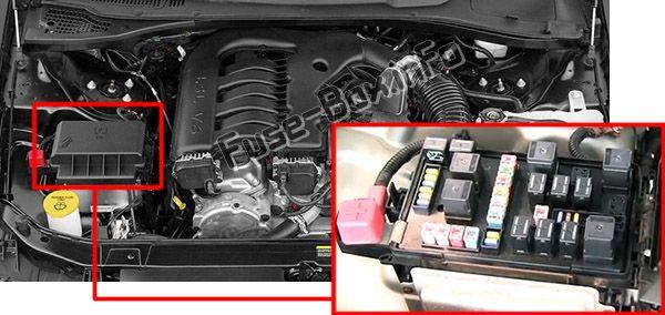 Chrysler 300 / 300C (Mk1/LX; 2005-2010) \u003c Fuse Box diagram