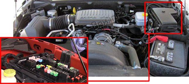 Dodge Dakota (2005-2011) \u003c Fuse Box diagram