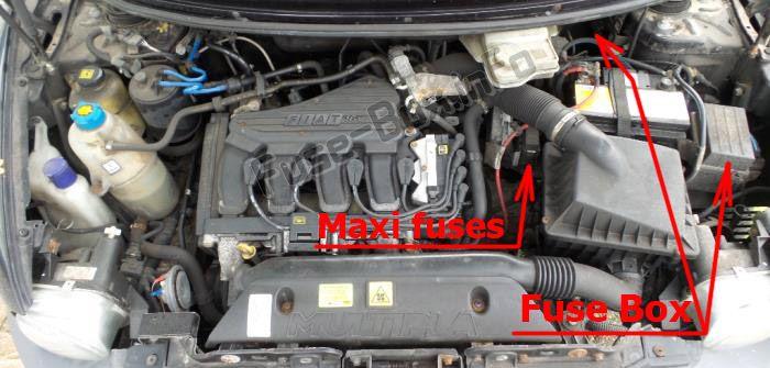 Fiat Multipla (2005-2010) \u003c Fuse Box diagram