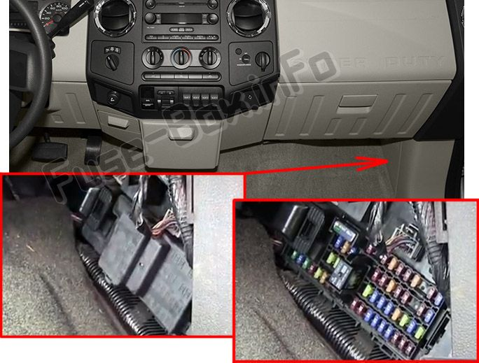 Ford F-250/F-350/F-450/F-550 (2008-2012) \u003c Fuse Box diagram