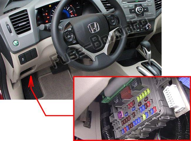 Honda Civic (2012-2015) \u003c Fuse Box diagram