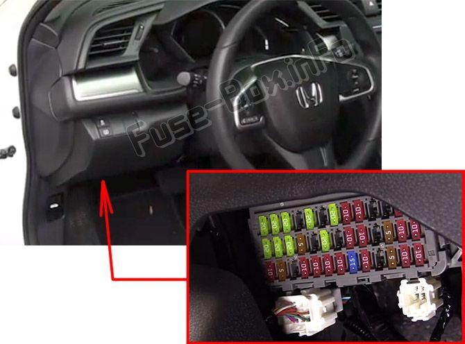 Honda Civic (2016-2019) \u003c Fuse Box diagram