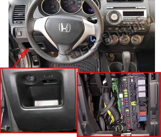Honda Fit (GD; 2007-2008) \u003c Fuse Box diagram
