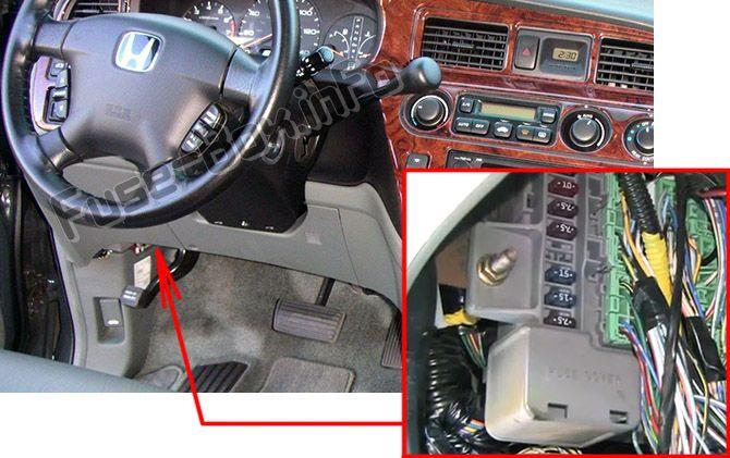 Honda Odyssey (RL1; 2000-2004) \u003c Fuse Box diagram