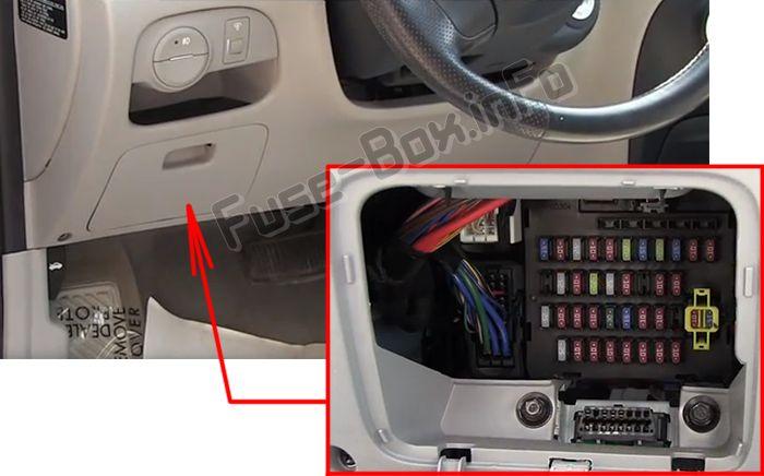 Hyundai Accent (MC; 2007-2011) \u003c Fuse Box diagram