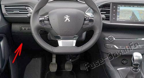 Peugeot 308 (T7; 2007-2013) \u003c Fuse Box diagram