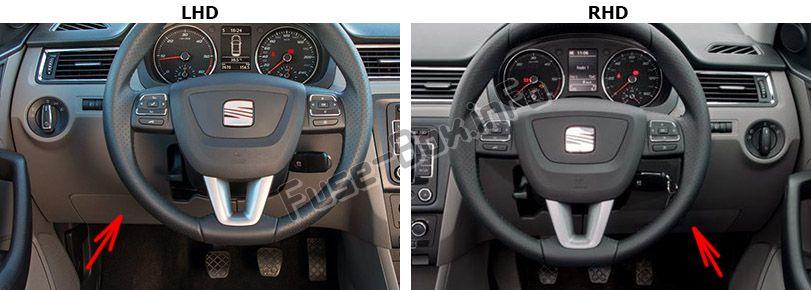 SEAT Toledo (Mk4/NH; 2012-2019) \u003c Fuse Box diagram