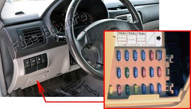 Subaru Forester (SG; 2003\u20132008) \u003c Fuse Box diagram