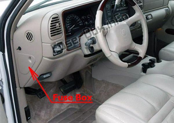 Cadillac Escalade (GMT 400; 1999-2000) \u003c Fuse Box diagram