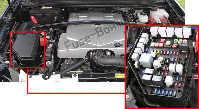 Cadillac SRX (2004-2009) \u003c Fuse Box diagram