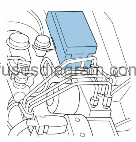 Fuses and relays box diagram Ford Ranger 2001-2009