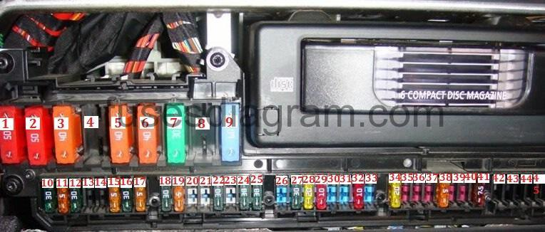 2006 525i fuse box diagram