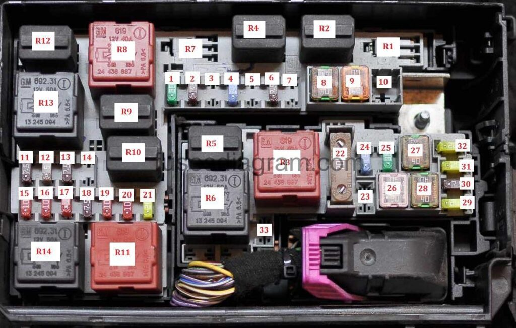 3 Position Fuse Box Auto Electrical Wiring Diagram Opel Gt