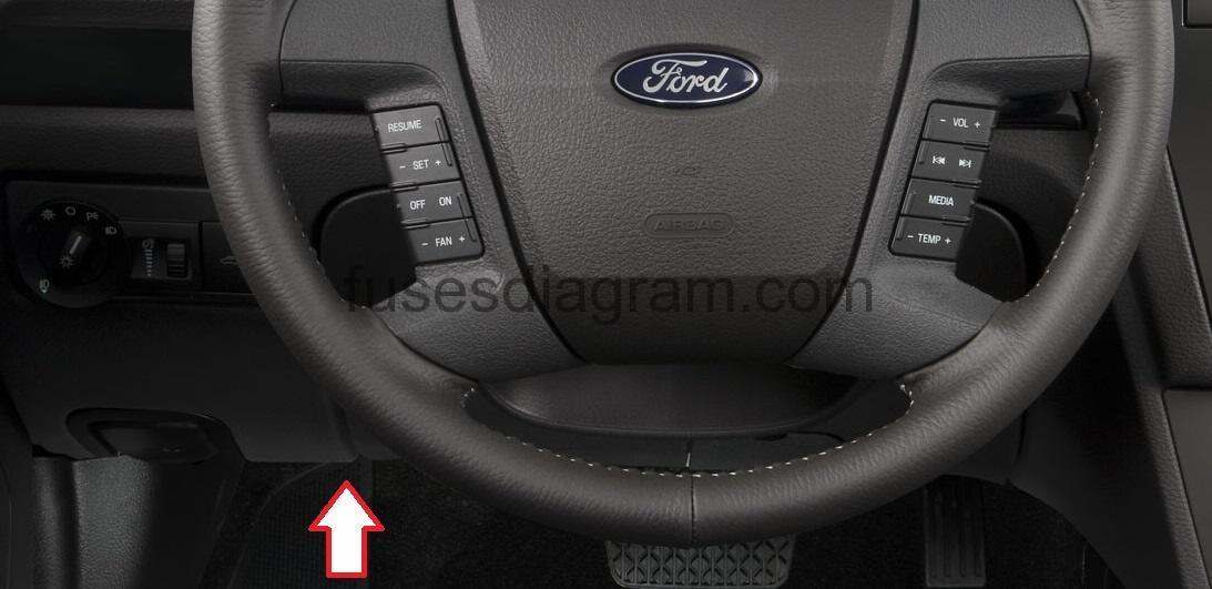 Fuse box Ford Fusion sedan 2006-2012