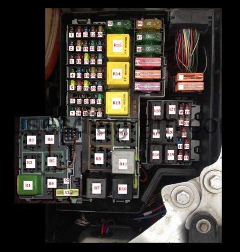 2006 r1 fuse box location