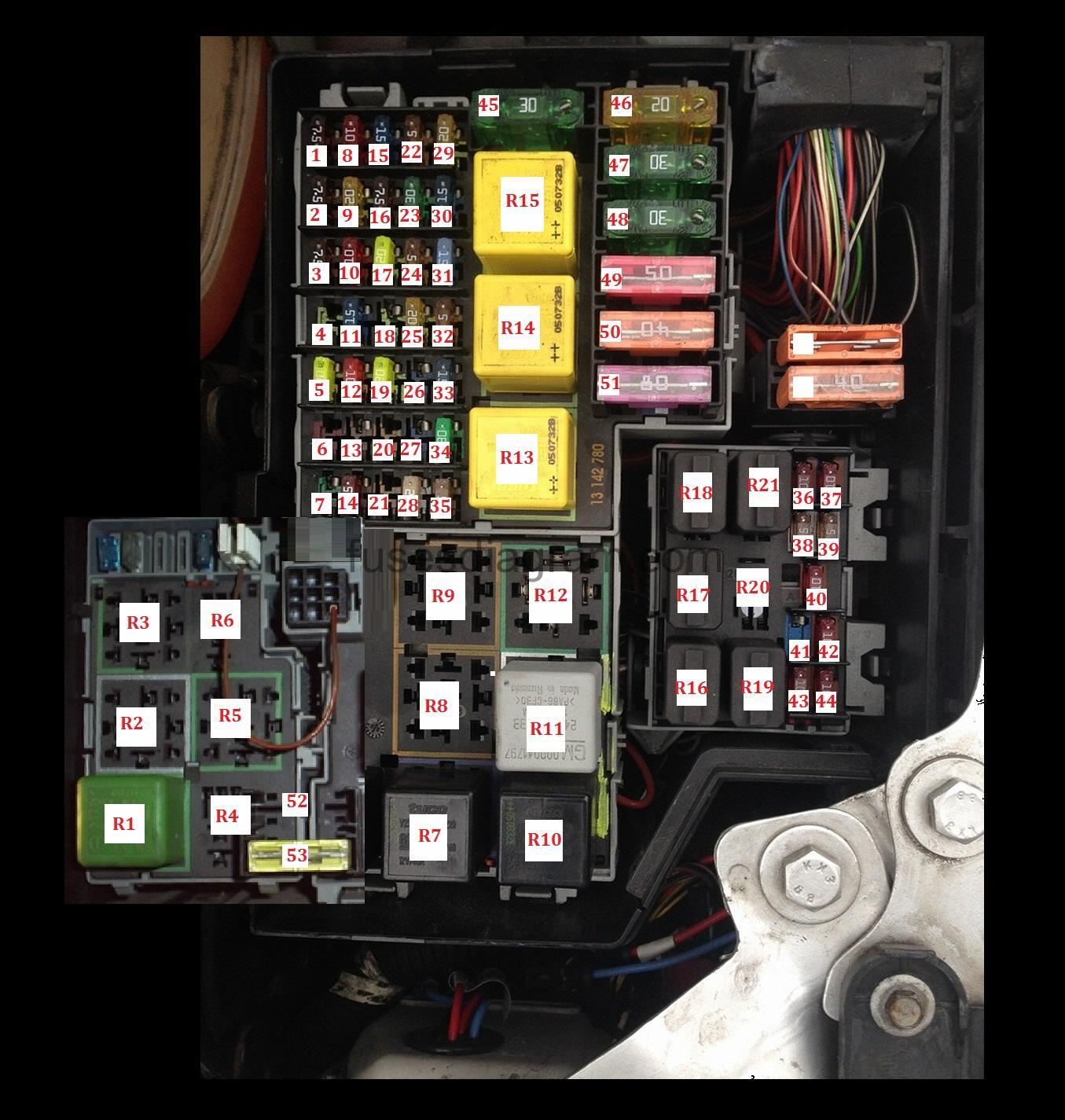 2000 corsa fuse box layout