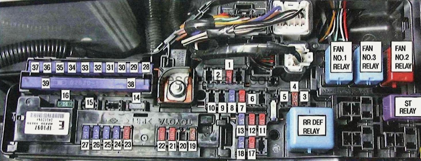 2007 Camry Fuse Diagram Auto Electrical Wiring