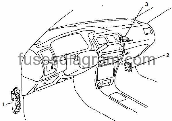 95 corolla driver side fuse box