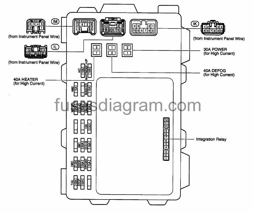 2004 toyota corolla fuse box diagram