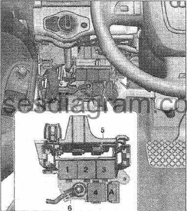 Fuse box Audi A4 (B8)