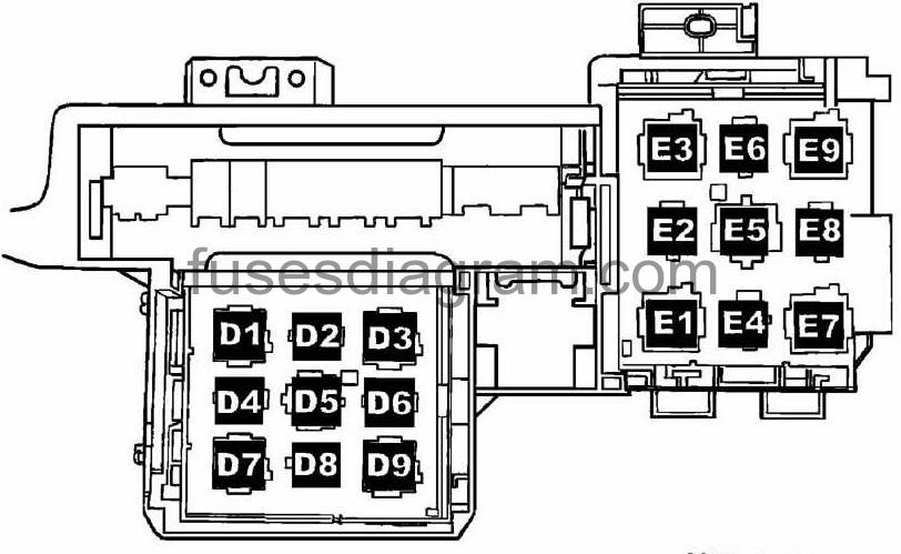 vw touareg 2004 fuse diagram