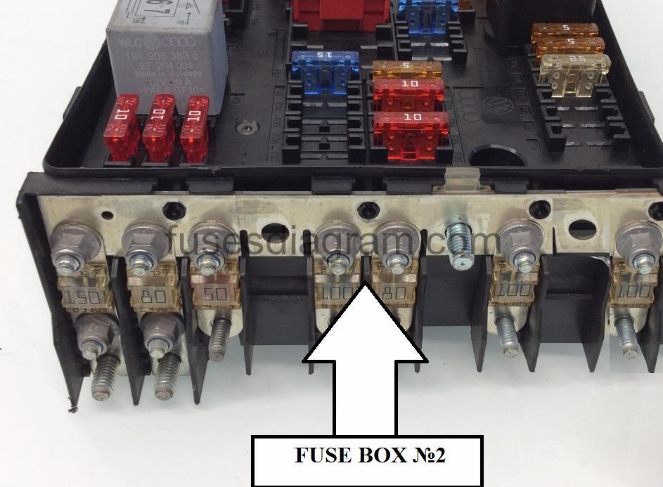 audi a3 engine fuse box
