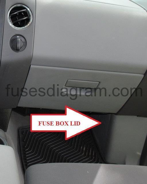 Fuse box Ford F150 2004-2008