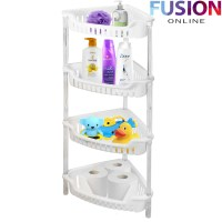 3/4 TIER PLASTIC CORNER SHELF/RACK STORAGE CADDY SHOWER