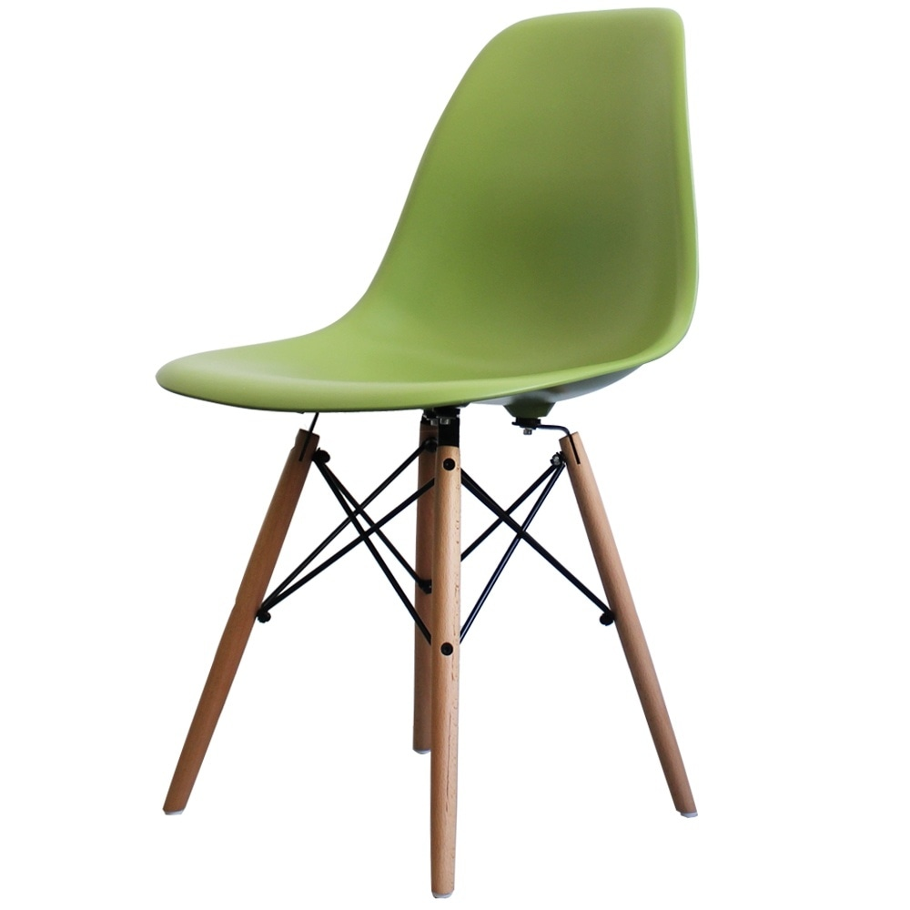 Charles Eames Charles Eames Style Green Plastic Retro Side Chair