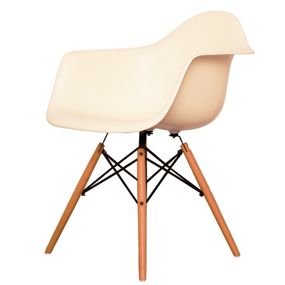 Chair Eames Buy Eames Style Vanilla Plastic Retro Armchair From Fusion Living