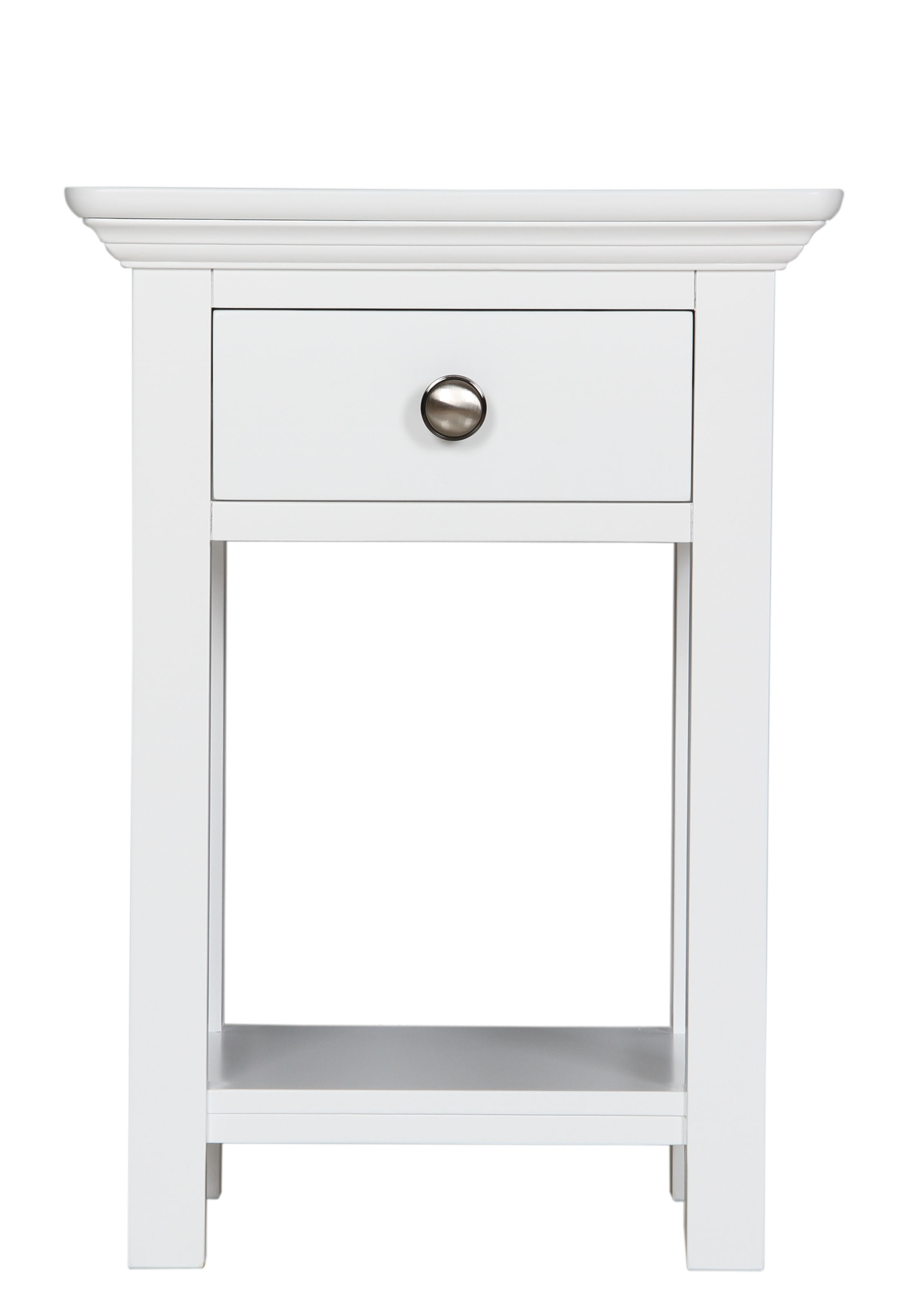 Small White Bedside Table Reims White Painted Furniture 1 Drawer Bedside Cabinet