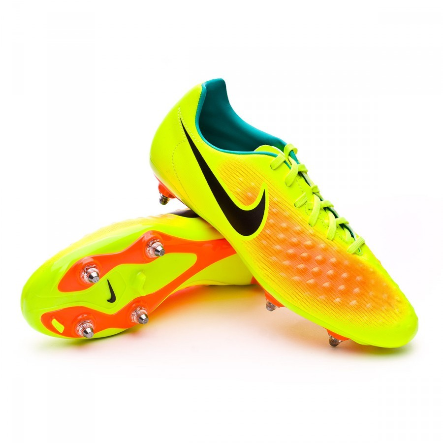 Tacos Nike Bota Magista Onda Ii Sg Volt Black Total Orange Clear Jade