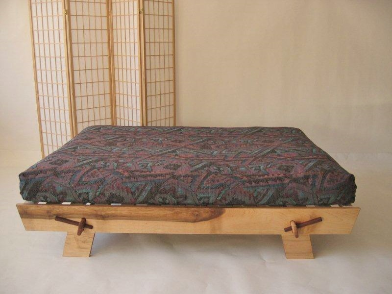 Black Twin Bed Frame Oriental Platform Bed | Futon Designs