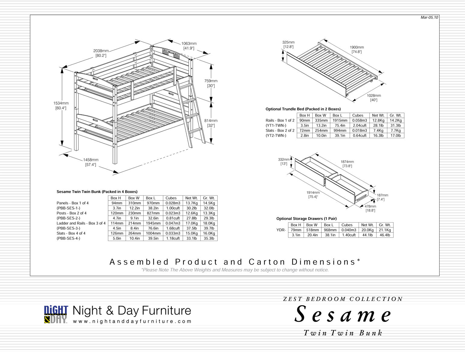 Dimensions Lit Double Sesame Kid Bunkbed Night Day