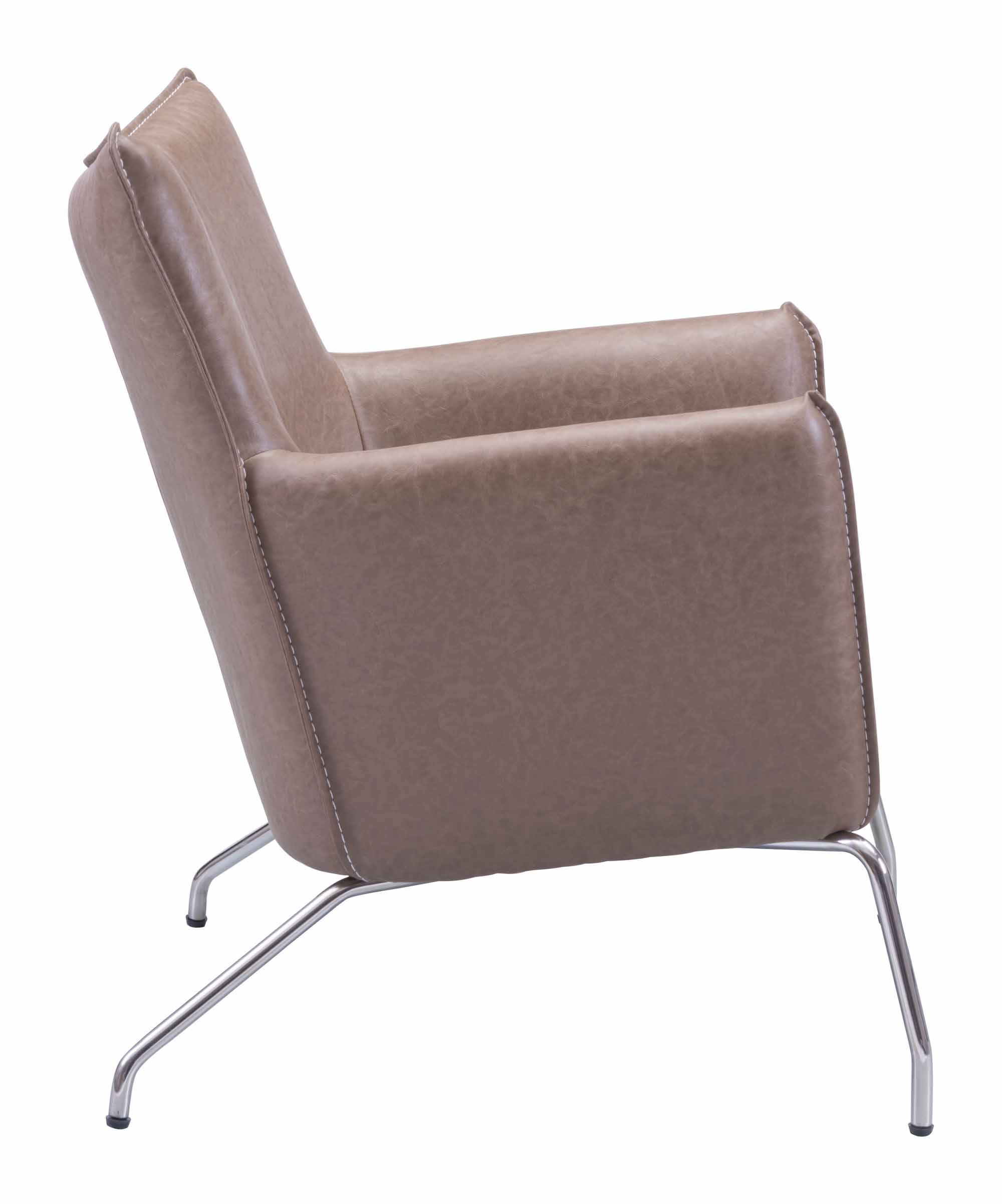 Saddle Office Chair Ostend Occasional Chair Saddle Brown By Zuo Modern